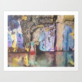 Rainbow cave Art Print