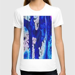 Blue Discontinuity T-shirt