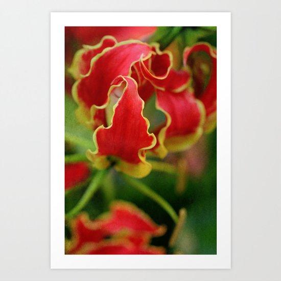 tongues of fire Art Print