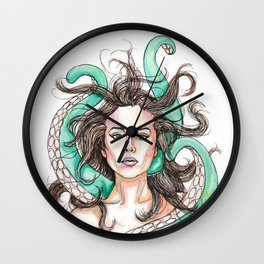 tentacle woman Wall Clock