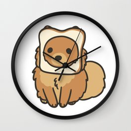 Pomeranian Bread Wall Clock