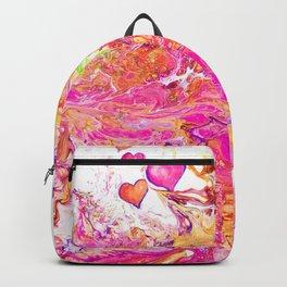Bliss acrylic  painting by Amanda Martinson Backpack