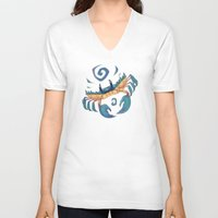 crab V-neck T-shirts featuring Crab by Anya McNaughton