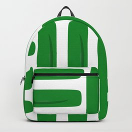 Abstract Green Pattern Backpack
