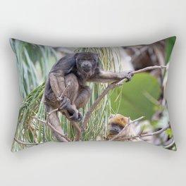 Pair of Howler Monkeys watching Rectangular Pillow