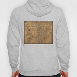 Vintage Map of Cincinnati Ohio (1838) Hoody