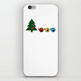 Christmas Tree Chasing Ornament Munchies iPhone Skin