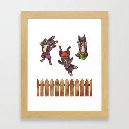 Mojo, Ocho, Herman Framed Art Print