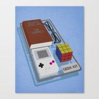 kit king Canvas Prints featuring Geek Kit by Bakus