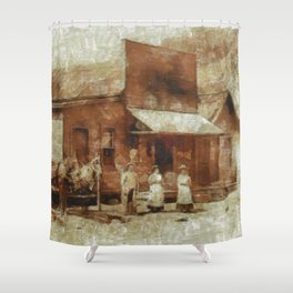 Once Upon a Time In West, Farmers Shower Curtain