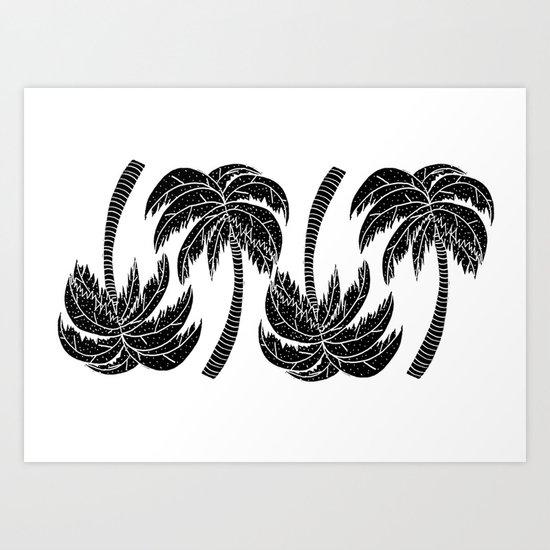 Palmtree Pattern Art Print
