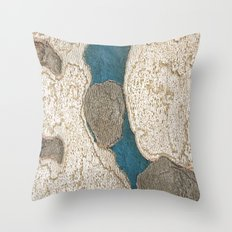 Blue Bark Throw Pillow