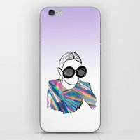 holographic iPhone & iPod Skins featuring Holographic by Fatima khayyat