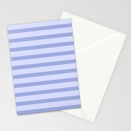 Blue Lilac Stripes Stationery Cards