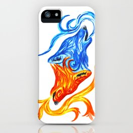 Fire and Water Wolves iPhone Case
