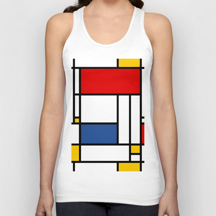 Mondrian Minimal Design Unisex Tanktop