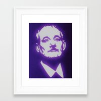 bill murray Framed Art Prints featuring Bill Murray by Beastie Toyz