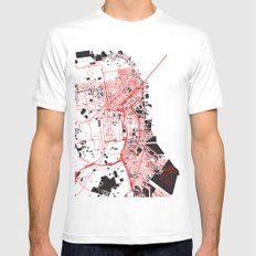 San Francisco Noise Map SMALL White Mens Fitted Tee