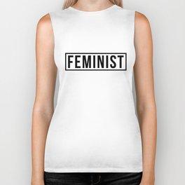 Feminist White Biker Tank