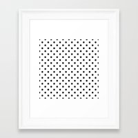 dots Framed Art Prints featuring Dots by Kings in Plaid