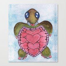 I Heart Sea Turtles Canvas Print