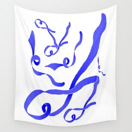 Blue Ribbon Wall Tapestry