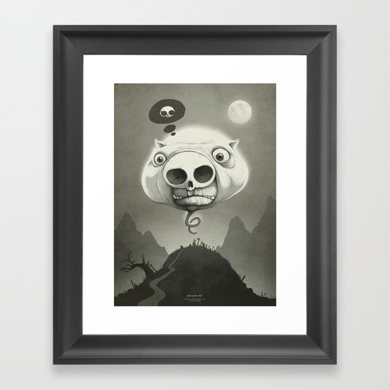 This is Hollow Pig! Framed Art Print