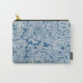Blue Boho Paisley Pattern Carry-All Pouch