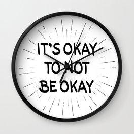 It's Okay to Not Be Okay Wall Clock