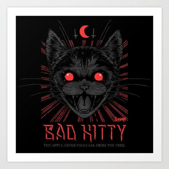 BAD KITTY Art Print