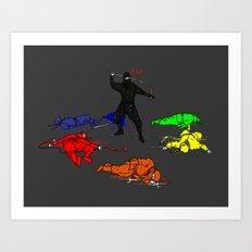 Anti-Colored Ninja Art Print