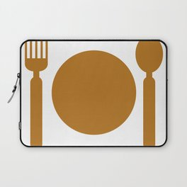 plate with cutlery Laptop Sleeve