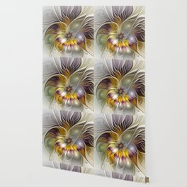 Abstract Fantasy Flower Fractal Art Wallpaper