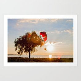 Grand Escape on Summer Sunset Art Print
