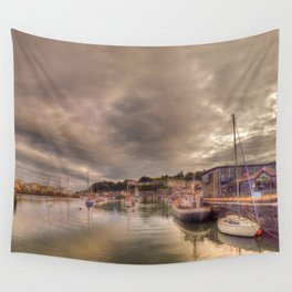 Porthmadog Harbour at Dusk Wall Tapestry