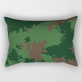Camouflage forest Rectangular Pillow