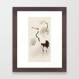 Oriental Red-Crowned Crane 002 Framed Art Print