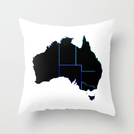 Australia States In Silhouette Throw Pillow