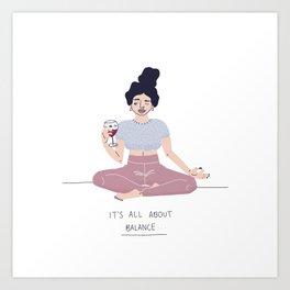 girl who is balanced Art Print