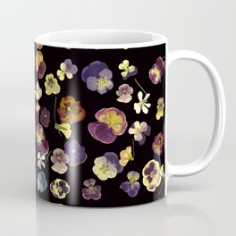 Dark Pansies Coffee Mug