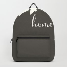 Maryland is Home - White on Charcoal Backpack