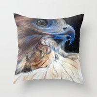 ruby Throw Pillows featuring Ruby by E.C. Ellison
