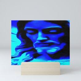 Blue Jesus Mini Art Print