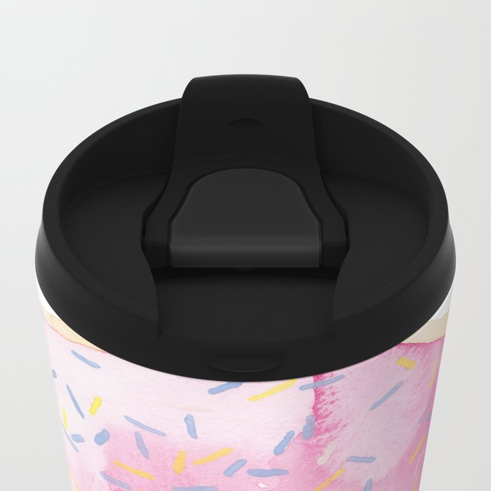 Glazed Metal Travel Mug