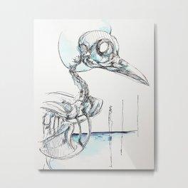 Crowskull Metal Print