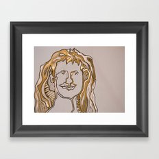 self portait 2 Framed Art Print