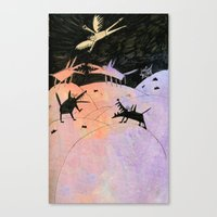 wings Canvas Prints featuring wings by Bunny Noir