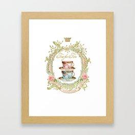 Tea for two Framed Art Print