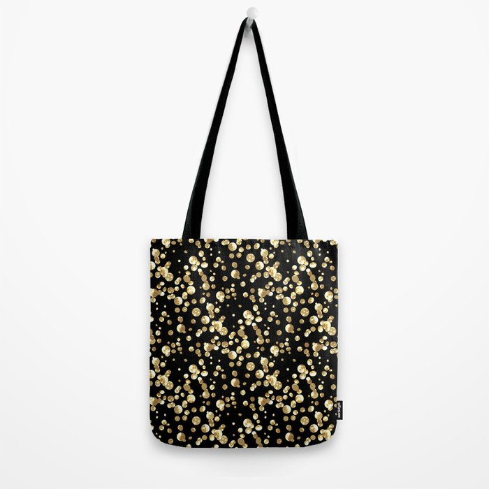Golden confetti. Brilliant . Tote Bag