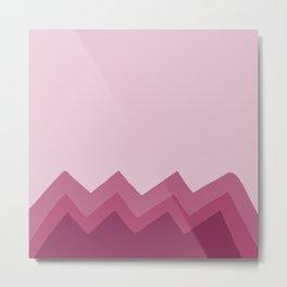 Pink Zig Zag Metal Print